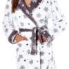 Dámský hřejivý zimní župánek s kapucí