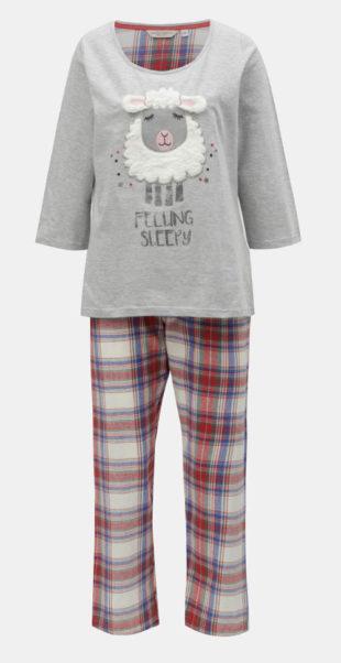 Dámské kalhotové pyžamo s ovečkou