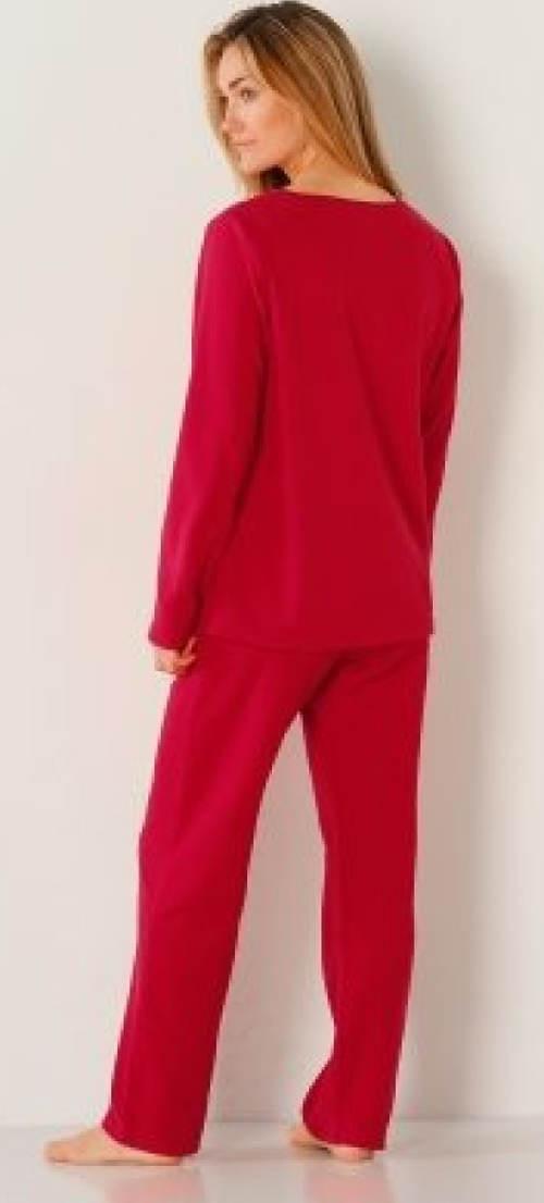 Červené vánoční dámské pyžamo