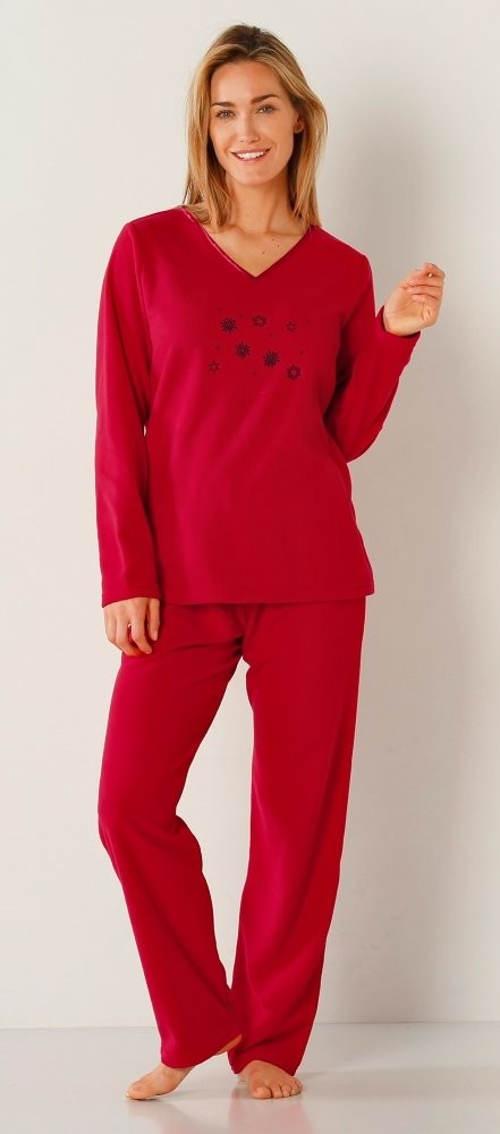 Hřejivé pyžamo z polar fleecu