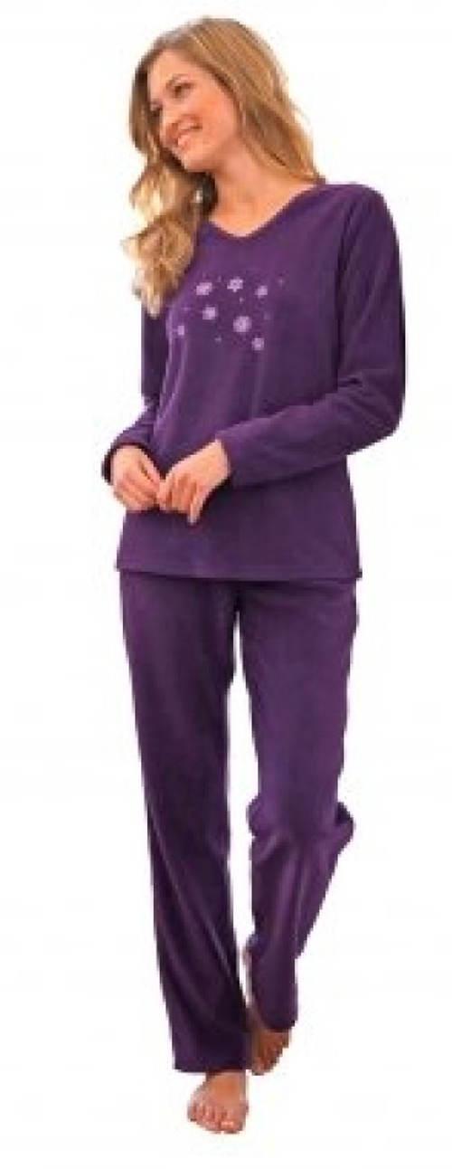 Teplé fialové dámské pyžamo