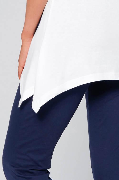 Pyžamový top asymetrického střihu