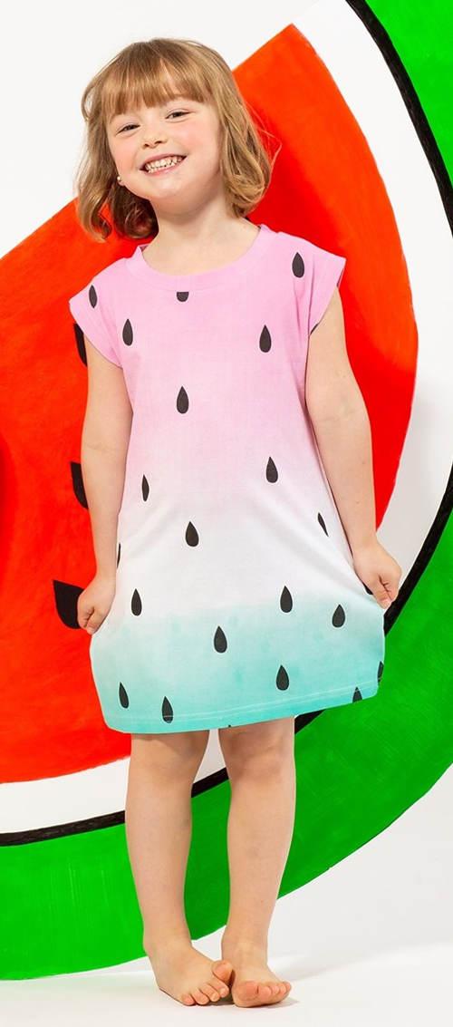 Dětská noční košile meloun