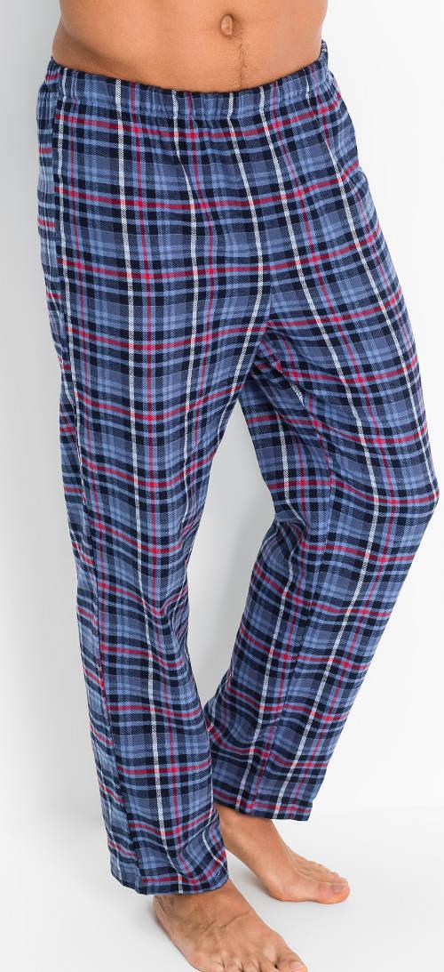 Dlouhé karované pyžamové kalhoty