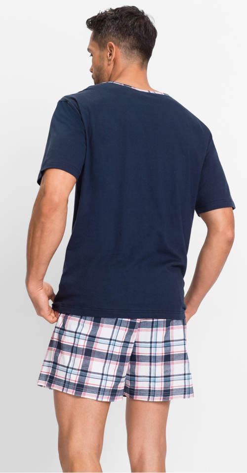 Letní pyžamo s kostkovanými trenýrkami