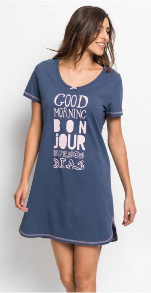 Levná dámská noční košile z organické bavlny