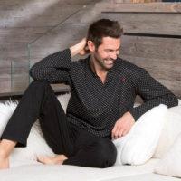 Luxusní pánské pyžamo z modalu a bavlny