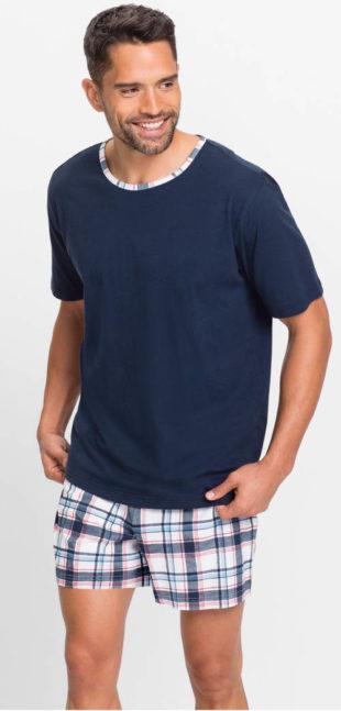 Pánské modré letní pyžamo bez nápisů