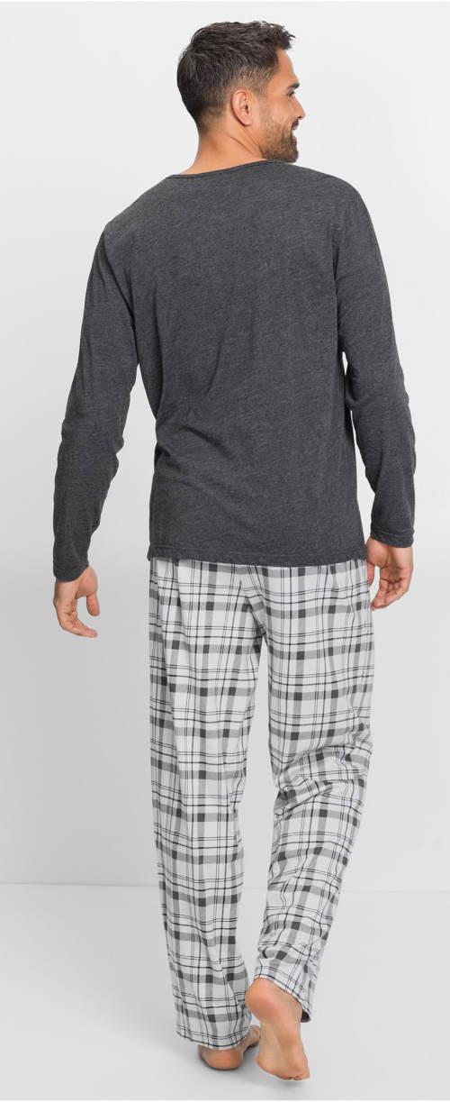 Pánské pyžamo s karovanýma kalhotama
