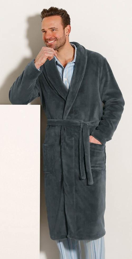 Pánský župan plyšového vzhledu z materiálu polar fleece