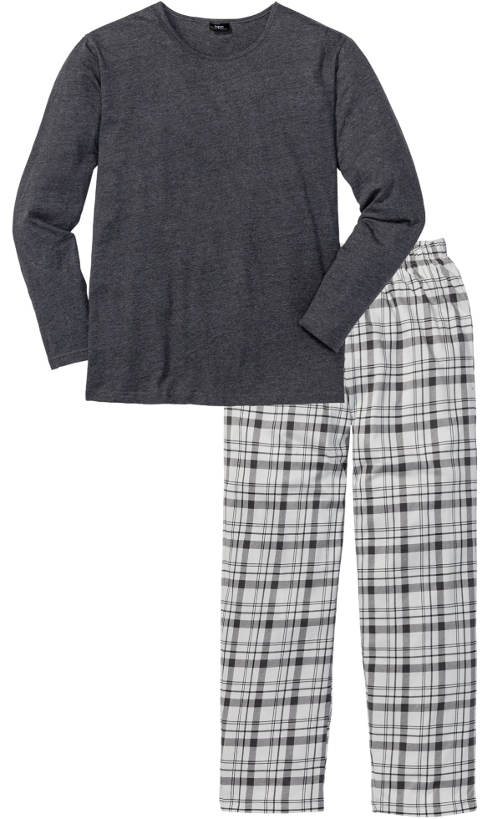 Šedé pánské pyžamo