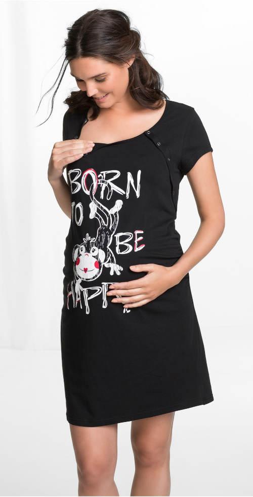 Černá noční košile do porodnice