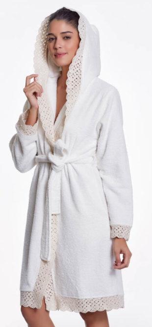 Dámský luxusní župan z prémiové česané bavlny