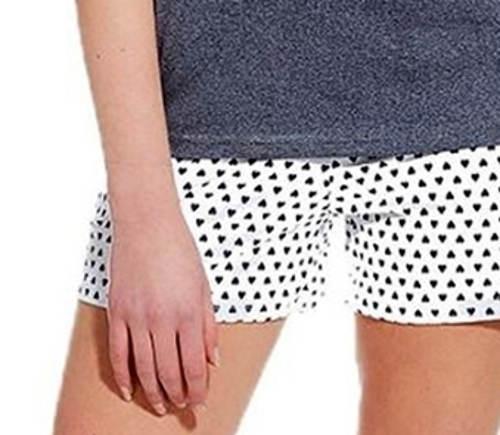 Dívčí pyžamo puntíkované kraťásky