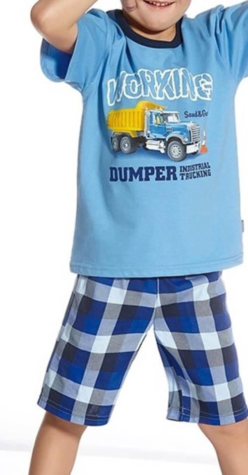 Kraťásové pyžamo s autem