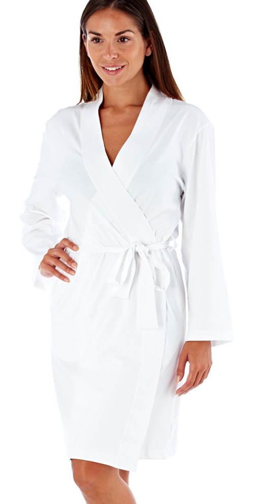Lehký bílý kimono župánek
