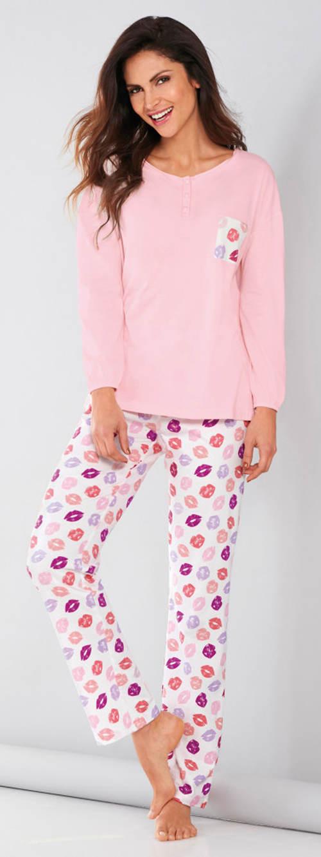 Pyžamo s romantickým potiskem pusinek