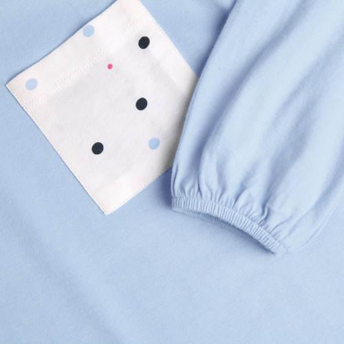 Světle modré bavlněné pyžamo