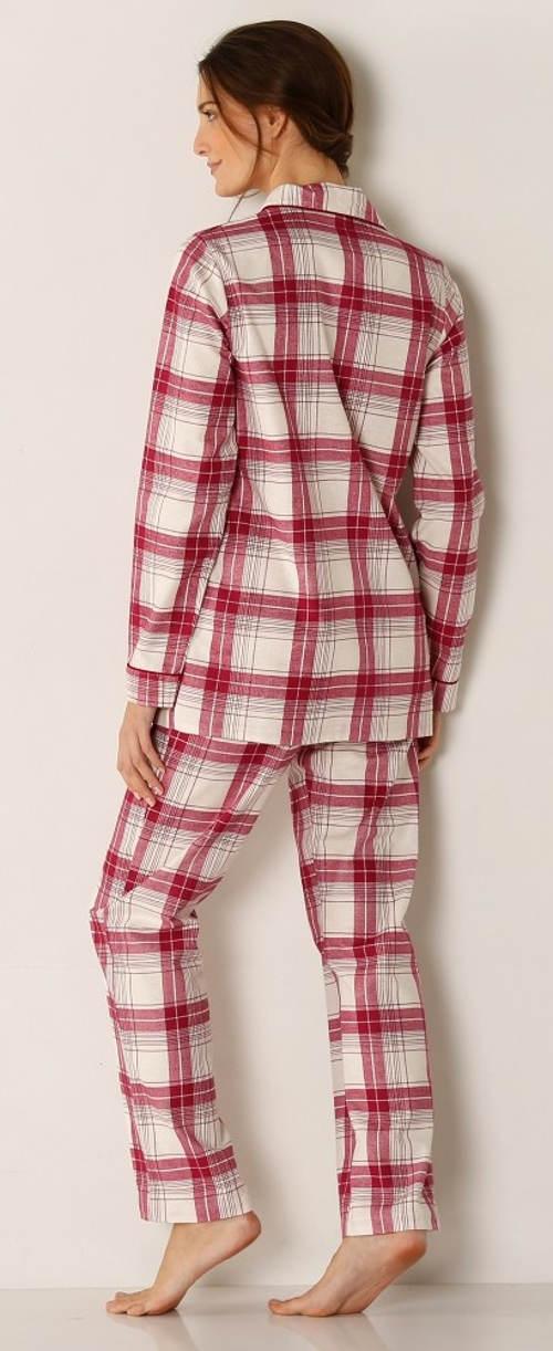 Červeno-bílé karované pyžamo