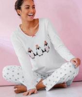 Dámské pyžamo s potiskem tučňáků