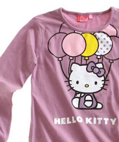 Fialové dívčí pyžamo Hello Kitty
