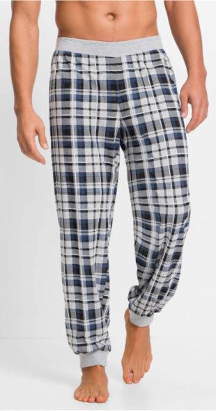 Kostkované pánské pyžamové kalhoty