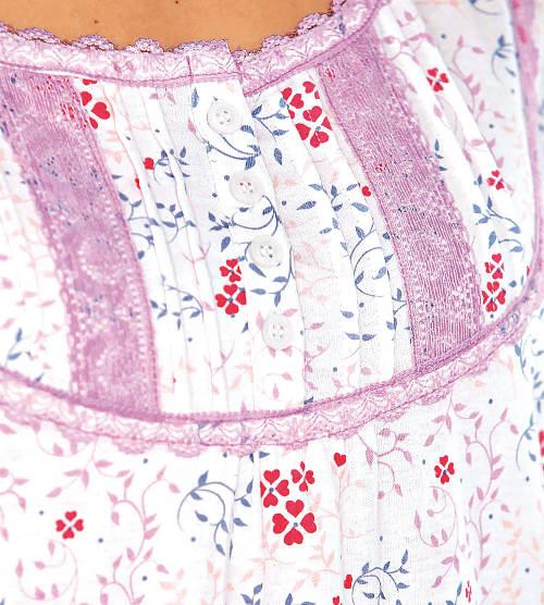Květinová košilka s knoflíky