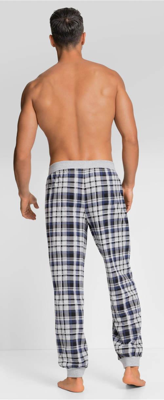 Modro-šedé pánské pyžamové kalhoty