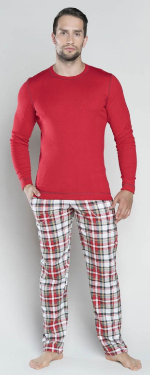 Pánské červené italské pyžamo