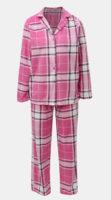Růžové dámské kárované kabátkové pyžamo
