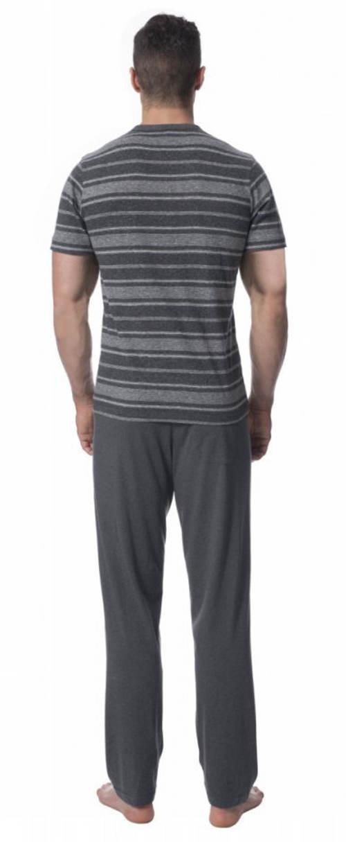 Šedé pruhované pánské pyžamo