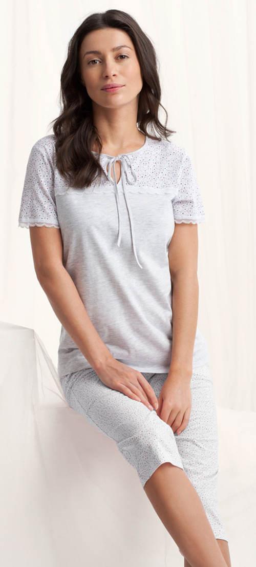 Dámské capri pyžamo s krajkou