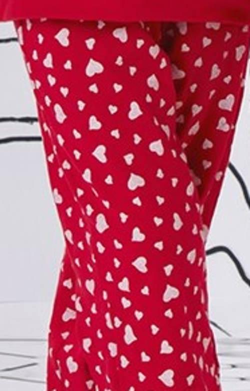 Dívčí pyžamo srdíčkové kalhoty