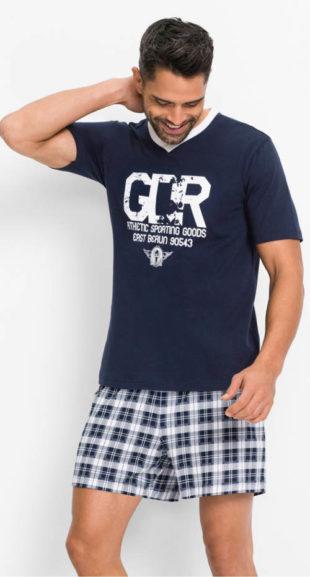 Levné krátké pánské pyžamo