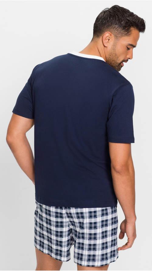 Modré trenýrkové pánské pyžamo