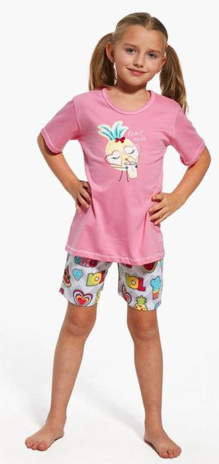 Roztomilé dívčí kraťáskové pyžamo
