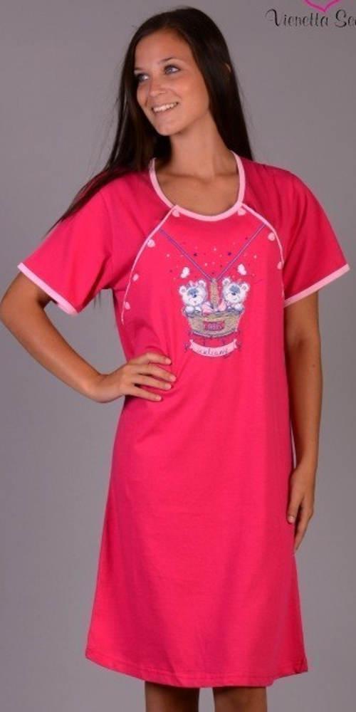 Růžová mateřská košilka Vienetta Secret