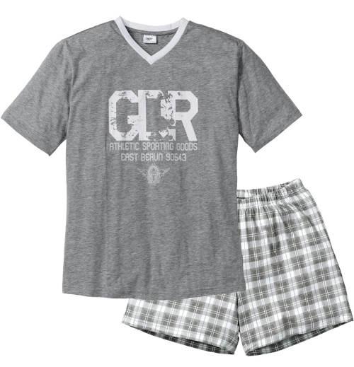 Šedé pánské letní pyžamo