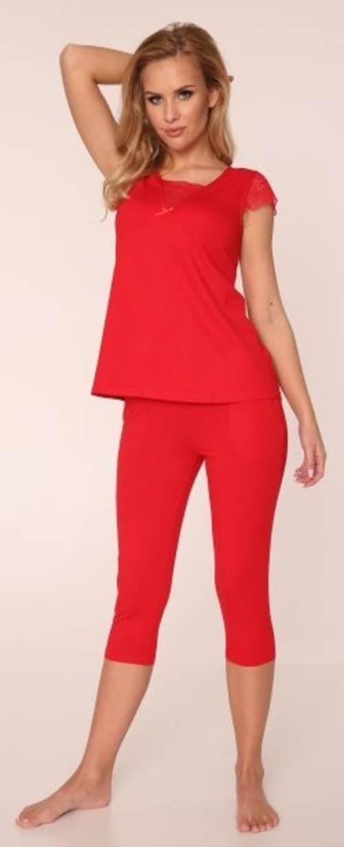 Jednobarevné dámské capri pyžamo