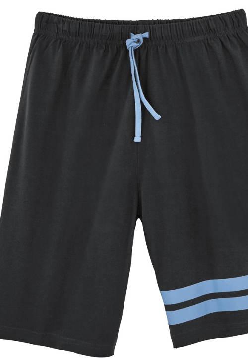 Černé pyžamové šortky ze 100% bavlny