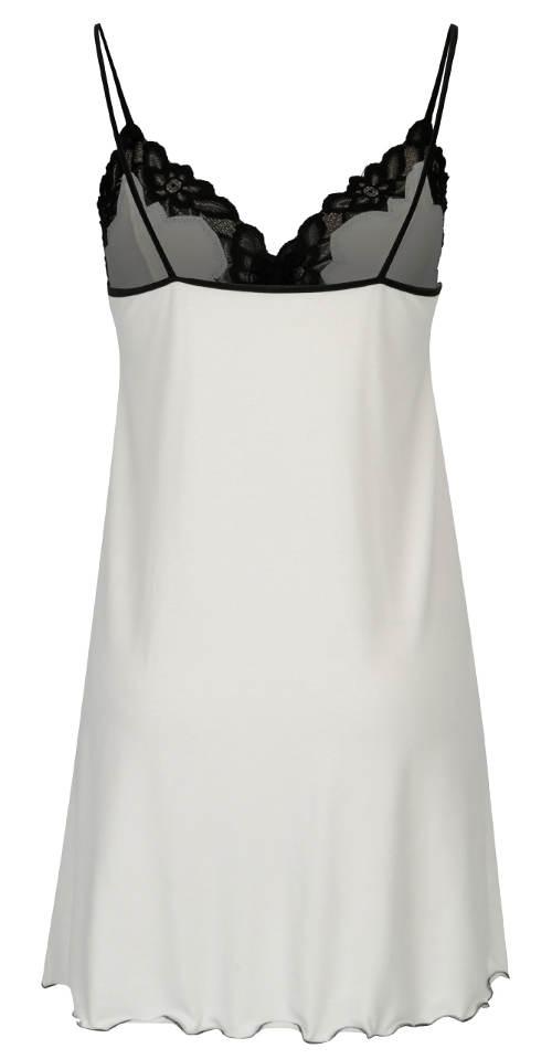 Černo-bílá košilka s rozparkem Eldar Roma