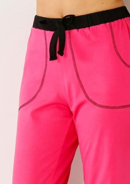 Dlouhé pyžamové dámské kalhoty