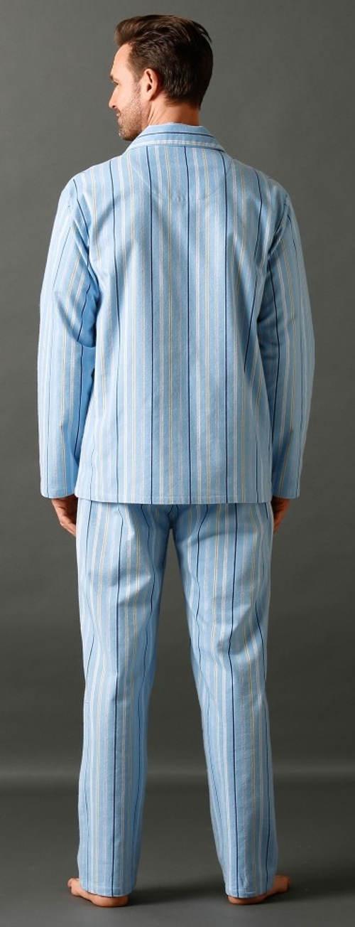 Klasické proužkové pánské pyžamo