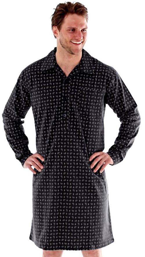 Pánská flanelová noční košile s propínací légou