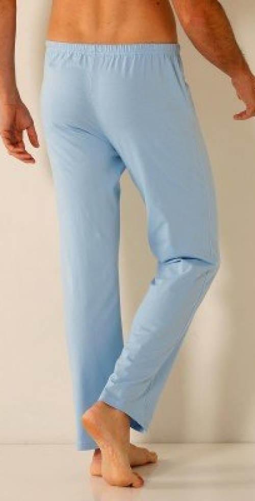 Světle modré pánské bavlněné pyžamo