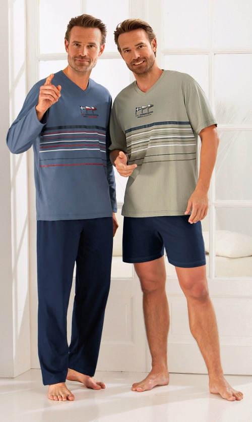 Bavlněné pánské pyžamo s proužky