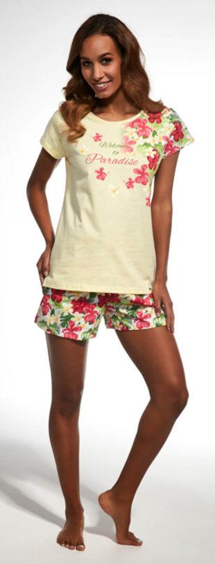 Květinové dámské letní pyžamo