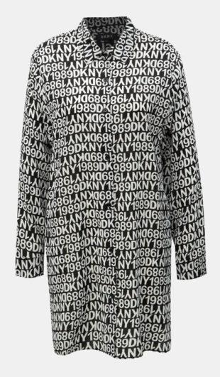 Volná dámská noční košile s nápisy DKNY