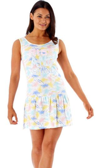 Lehké dámské pyžamové šaty