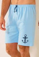 Pánské letní pyžamové šortky s kotvou